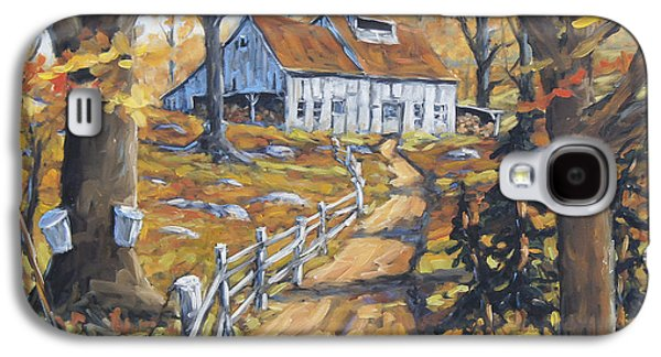 Montreal Paintings Galaxy S4 Cases - Maple Sugar Bush  Road by Prankearts Galaxy S4 Case by Richard T Pranke