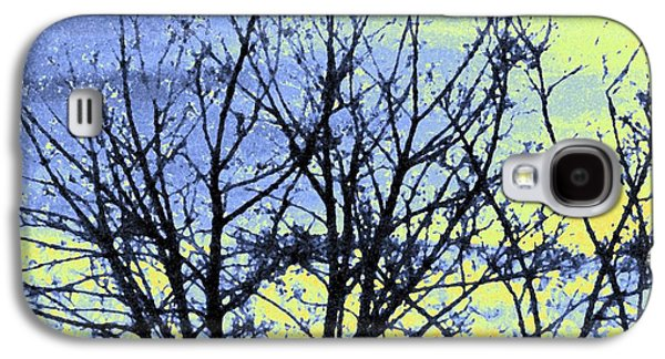 Abstract Digital Galaxy S4 Cases - Maple Tree In Winter Galaxy S4 Case by Will Borden