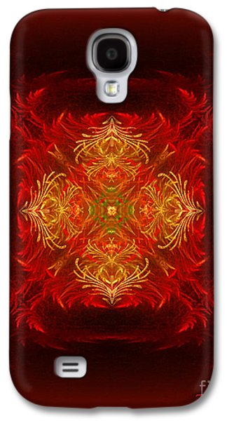 Inner Self Digital Art Galaxy S4 Cases - Mapping the soul - spiritual abstract art by Giada Rossi Galaxy S4 Case by Giada Rossi