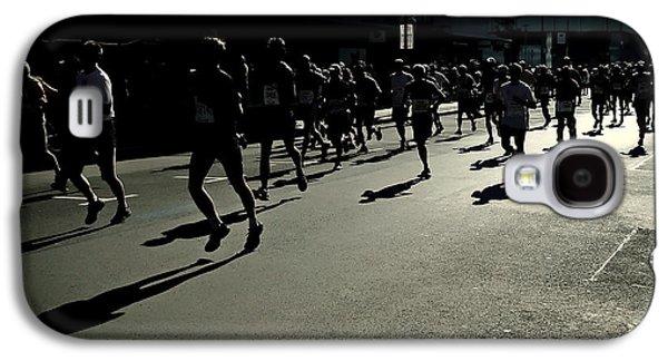 Jogging Galaxy S4 Cases - Marathon Morning Galaxy S4 Case by Mountain Dreams