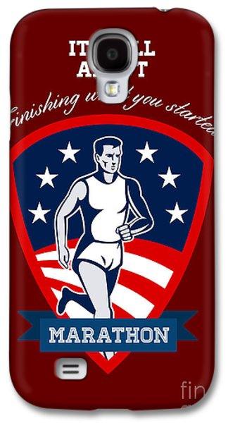 Marathon Runner Finish What You Start Poster Galaxy S4 Case by Aloysius Patrimonio