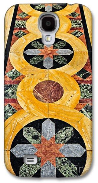 Marble Galaxy S4 Cases - Marble floor in Orthodox church Galaxy S4 Case by Elena Elisseeva