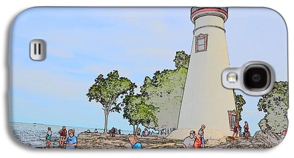 Historic Site Drawings Galaxy S4 Cases - Marblehead Lighthouse Galaxy S4 Case by Jim Steinmiller