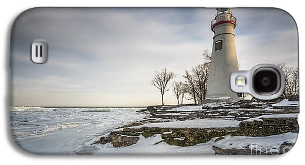 Marblehead Lighthouse Winter Galaxy S4 Case by James Dean
