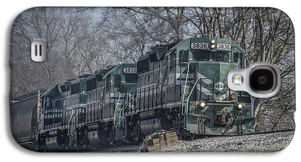 Evansville Galaxy S4 Cases - March 11. 2015 - Evansville Western Railway at Mount Vernon Indiana Galaxy S4 Case by Jim Pearson