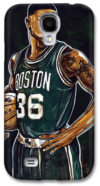 Boston Celtics Galaxy S4 Cases - Marcus Smart Galaxy S4 Case by Dave Olsen