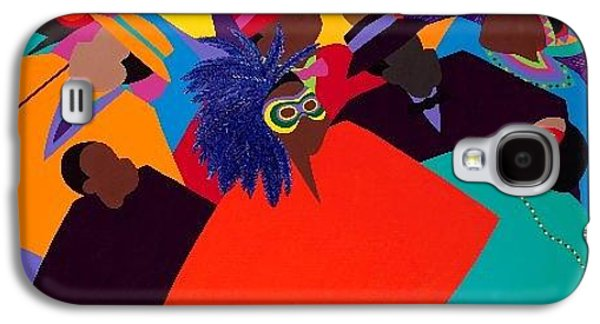 Recently Sold -  - African-american Galaxy S4 Cases - Mardi Gras Galaxy S4 Case by Synthia SAINT JAMES