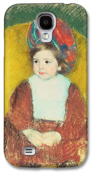 Impressionism Pastels Galaxy S4 Cases - Margot Galaxy S4 Case by Mary Stevenson Cassatt
