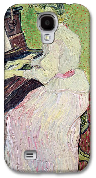 Piano Paintings Galaxy S4 Cases - Marguerite Gachet at the Piano Galaxy S4 Case by Vincent Van Gogh