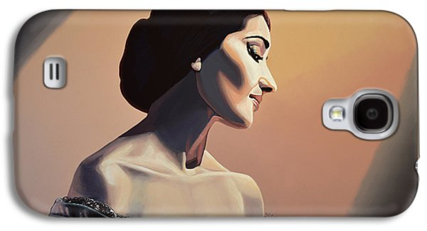 City Scenes Paintings Galaxy S4 Cases - Maria Callas Galaxy S4 Case by Paul Meijering