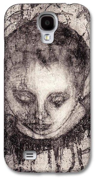 Religious Drawings Galaxy S4 Cases - Maria Galaxy S4 Case by Gun Legler