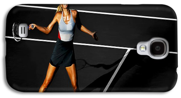 Sharapova Galaxy S4 Cases - Maria Sharapova Galaxy S4 Case by Brian Reaves