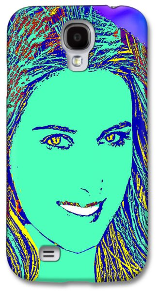 Sharapova Galaxy S4 Cases - Maria Sharapova Golden Galaxy S4 Case by Dalon Ryan