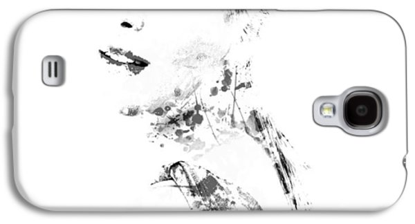 Sharapova Galaxy S4 Cases - Maria Sharapova Paint Splatter 1a Galaxy S4 Case by Brian Reaves
