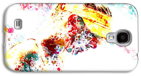 Sharapova Galaxy S4 Cases - Maria Sharapova Paint Splatter 3p Galaxy S4 Case by Brian Reaves