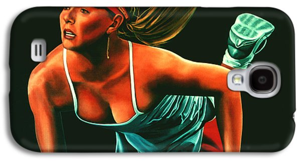 Sharapova Galaxy S4 Cases - Maria Sharapova  Galaxy S4 Case by Paul  Meijering