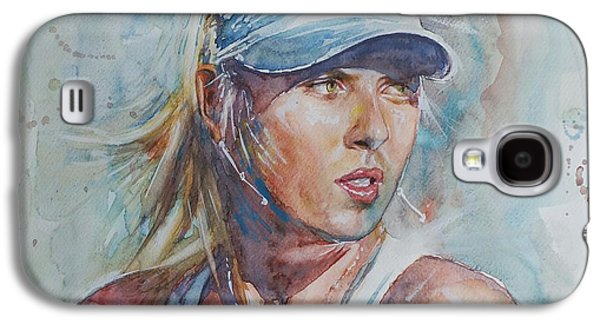 Sharapova Galaxy S4 Cases - Maria Sharapova - Portrait 1 Galaxy S4 Case by Baresh Kebar - Kibar