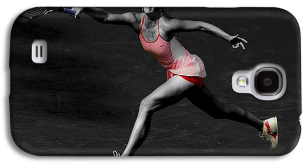 Sharapova Galaxy S4 Cases - Maria Sharapova Reaching Out Galaxy S4 Case by Brian Reaves