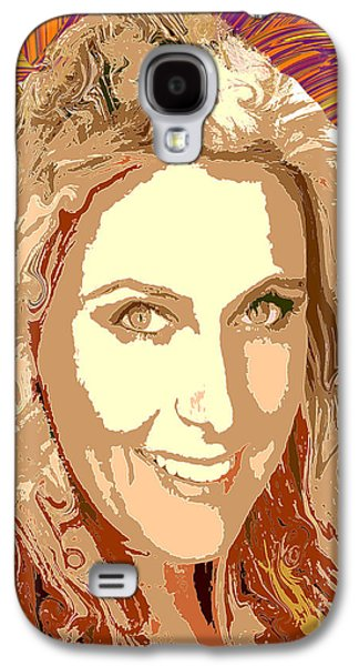 Sharapova Galaxy S4 Cases - Maria Sharapova Tennis Galaxy S4 Case by Dalon Ryan
