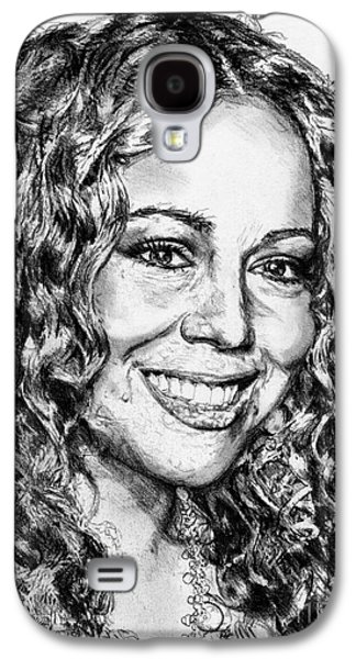 Hop Drawings Galaxy S4 Cases - Mariah Carey in 2012 Galaxy S4 Case by J McCombie