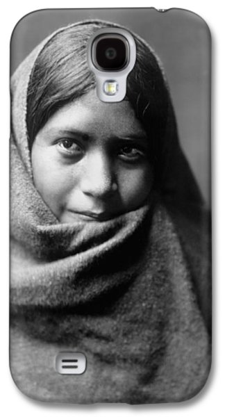 1907 Galaxy S4 Cases - Maricopa Indian woman circa 1907 Galaxy S4 Case by Aged Pixel