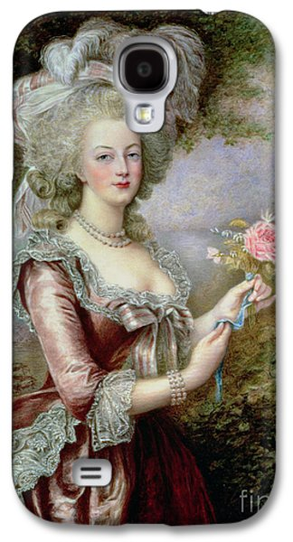 Rulers Galaxy S4 Cases - Marie Antoinette after Vigee Lebrun Galaxy S4 Case by Louise Campbell Clay