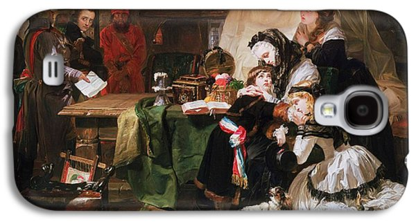 Guard Dog Galaxy S4 Cases - Marie Antoinette And Her Children Oil On Canvas Galaxy S4 Case by Edward Matthew Ward