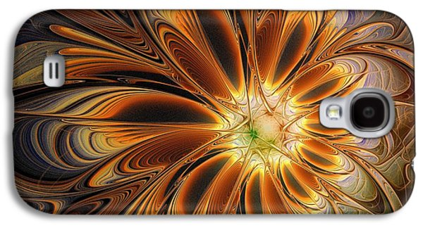 Floral Digital Art Digital Art Galaxy S4 Cases - Marigold Galaxy S4 Case by Amanda Moore