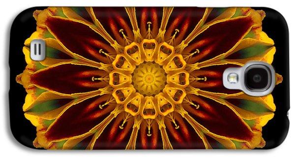 David J Bookbinder Galaxy S4 Cases - Marigold Flower Mandala Galaxy S4 Case by David J Bookbinder