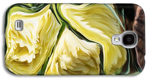 Nature Abstracts Galaxy S4 Cases - Marigolds in Spring Galaxy S4 Case by Omaste Witkowski