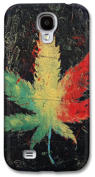 Trippy Paintings Galaxy S4 Cases - Marijuana Galaxy S4 Case by Michael Creese