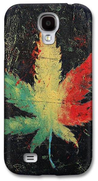 Trippy Galaxy S4 Cases - Marijuana Galaxy S4 Case by Michael Creese