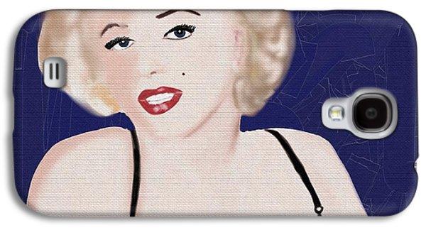 Munroe Galaxy S4 Cases - Marilyn 2 Galaxy S4 Case by Helen Bowman
