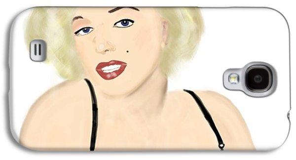 Munroe Galaxy S4 Cases - Marilyn Galaxy S4 Case by Helen Bowman
