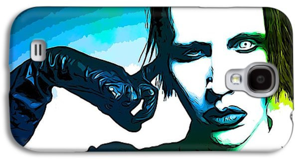 Painter Mixed Media Galaxy S4 Cases - Marilyn Manson Poster Galaxy S4 Case by Dan Sproul