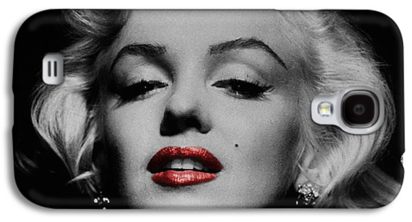 Black And White Galaxy S4 Cases - Marilyn Monroe 3 Galaxy S4 Case by Andrew Fare