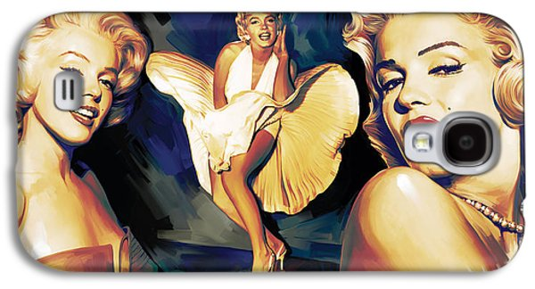 Elvis Presley Galaxy S4 Cases - Marilyn Monroe Artwork 3 Galaxy S4 Case by Sheraz A