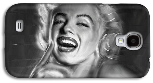 Munroe Digital Art Galaxy S4 Cases - Marilyn Monroe Galaxy S4 Case by Linton Hart