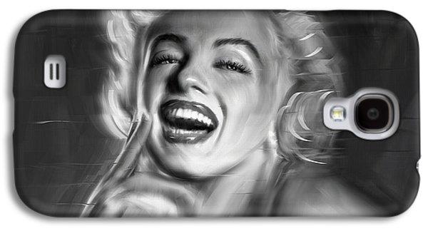 Munroe Galaxy S4 Cases - Marilyn Monroe Galaxy S4 Case by Linton Hart