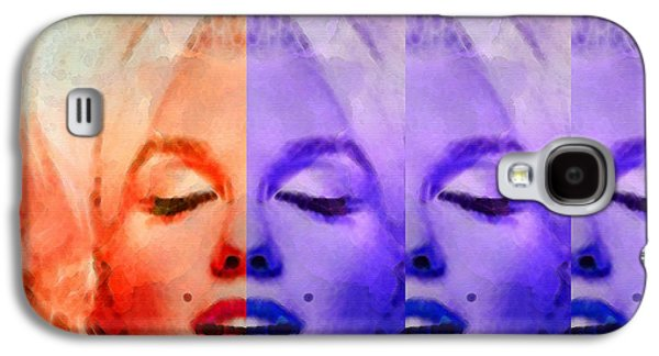 Figures Mixed Media Galaxy S4 Cases - Marilyn Monroe - Living Color by Sharon Cummings Galaxy S4 Case by Sharon Cummings
