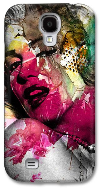 Face Digital Galaxy S4 Cases - Marilyn Monroe Galaxy S4 Case by Mark Ashkenazi