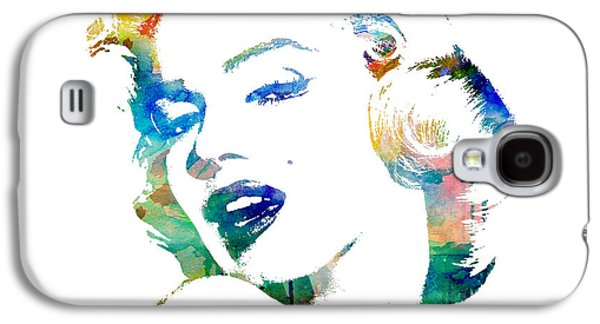 Painted Mixed Media Galaxy S4 Cases - Marilyn Monroe Galaxy S4 Case by Mike Maher