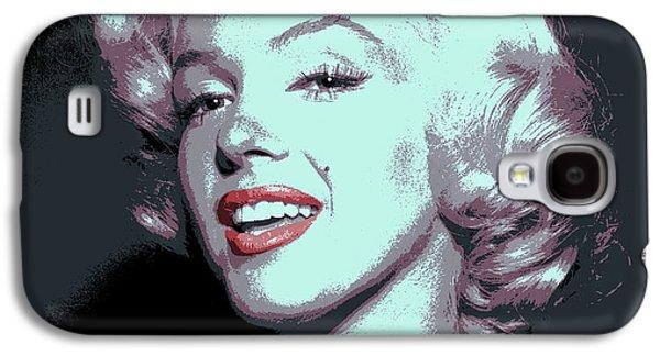 Beauty Mark Galaxy S4 Cases - Marilyn Monroe Pop Art Galaxy S4 Case by Daniel Hagerman