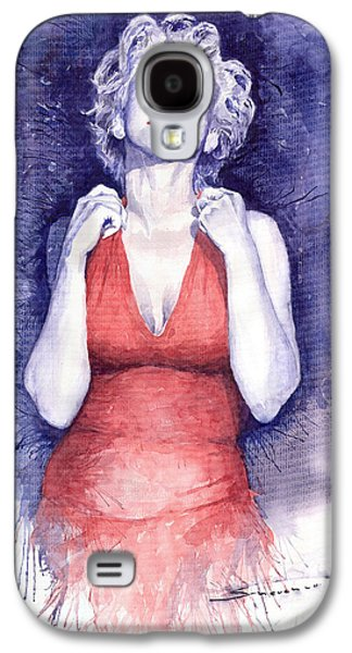 Marilyn Monroe Galaxy S4 Case by Yuriy  Shevchuk