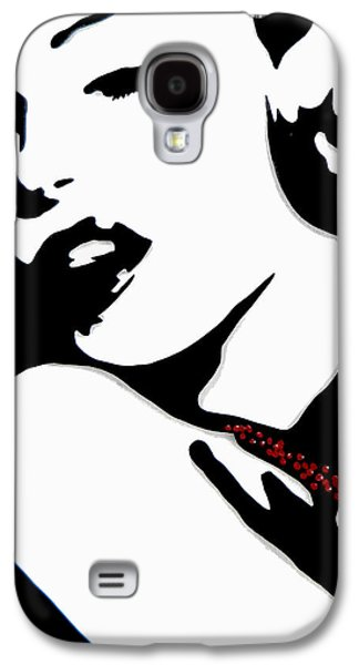 Modern Abstract Drawings Galaxy S4 Cases - Marilyn Galaxy S4 Case by Tom Fedro - Fidostudio
