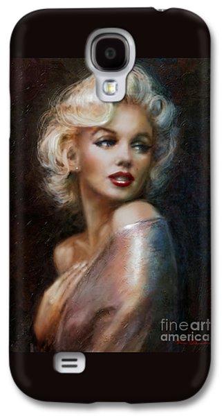 Lips Galaxy S4 Cases - Marilyn WW soft Galaxy S4 Case by Theo Danella