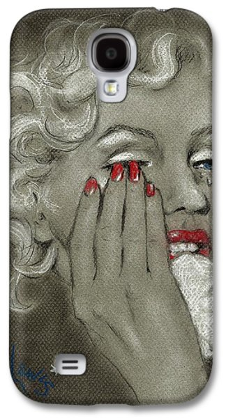 Crying Drawings Galaxy S4 Cases - Marilyns tears Galaxy S4 Case by P J Lewis