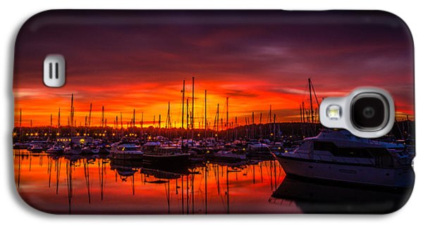 Chatham Galaxy S4 Cases - Marina Sunset Galaxy S4 Case by Dawn OConnor