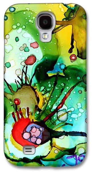 Alga Paintings Galaxy S4 Cases - Marine Habitats Galaxy S4 Case by Jolanta Anna Karolska