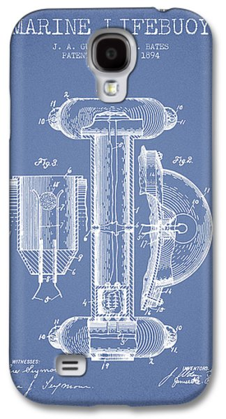 Saving Galaxy S4 Cases - Marine Lifebuoy Patent from 1894 - Light Blue Galaxy S4 Case by Aged Pixel
